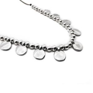 Chunky charm necklace silver κολιέ