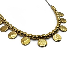 Chunky charm necklace gold κολιέ