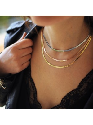"Κολιέ ""snake chain ""rose gold"