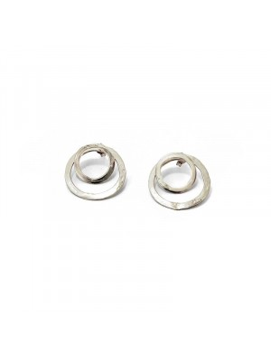 Twins earrings silver