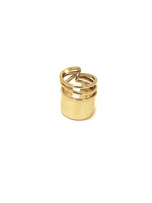 Snail ring gold