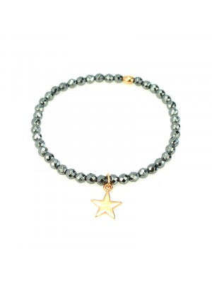 Βραχιόλι hematite star rose gold