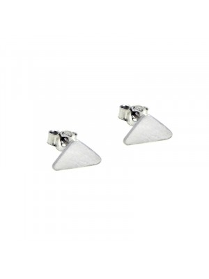 Σκουλαρίκι earrings funky pyramid silver