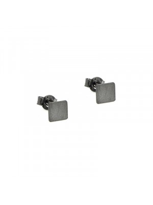 Σκουλαρίκι earrings funky square black