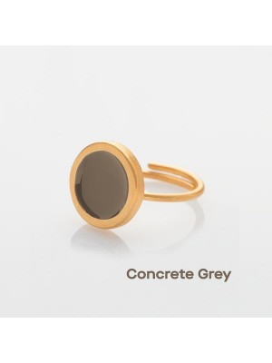 Δαχτυλίδι palette s gold grey