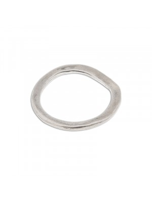 Wavy ring silver