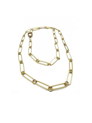 Shinny Clasp Long Gold