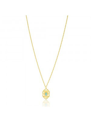 Turquoise Stone Gold Necklace