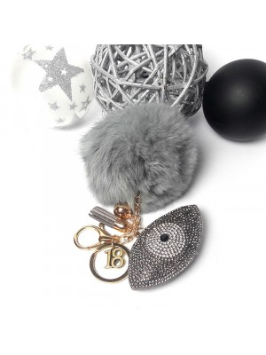 Μπρελόκ grey eye fur key chain