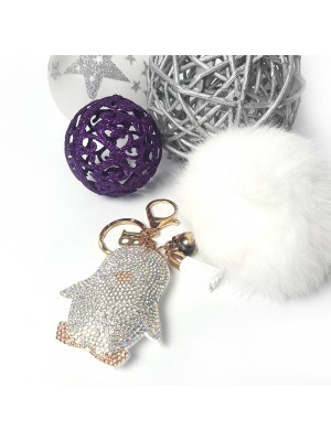 Μπρελόκ white penguin fur key chain