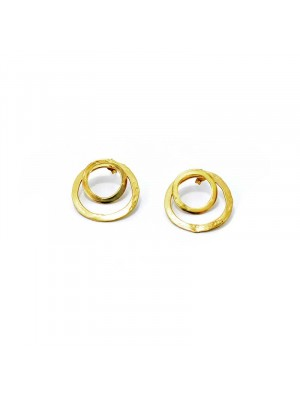Twins earrings gold