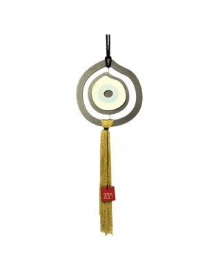 Γούρι σπιτιού 2019 evil eye home charm grey mustard