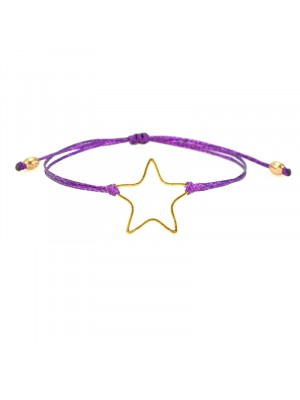 Βραχιόλι star shine rose gold purple μώβ