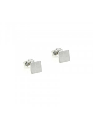 Σκουλαρίκι earrings funky square silver