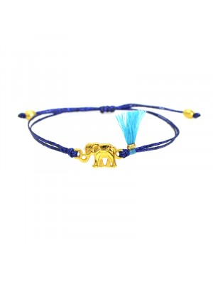 Βραχιόλι funky elephant gold blue black