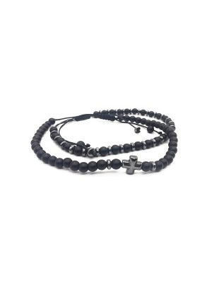 Hem cross set bracelet