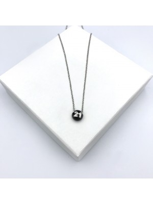 21 chain necklace black silver