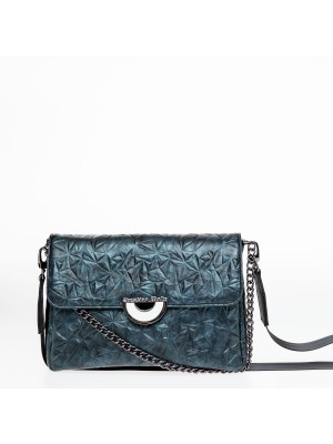 Χειροποίητη τσάντα Christina Malle Petrol blue mini  bag