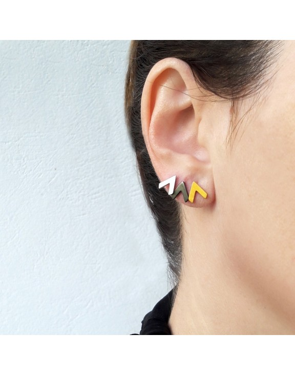 Σκουλαρίκι earrings funky up black