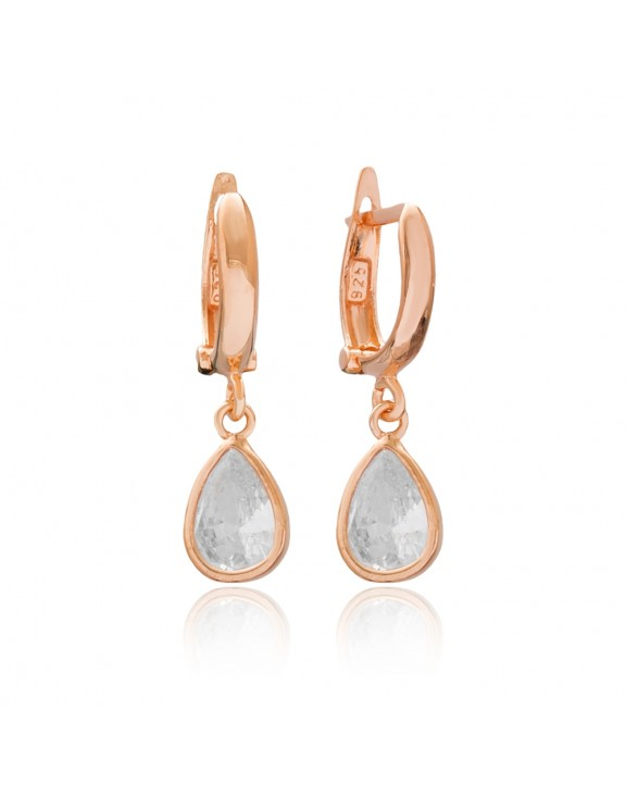 Pearly Drop Earrings Rose Gold