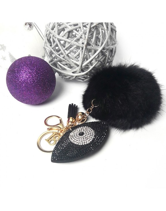 Μπρελόκ black eye fur key chain