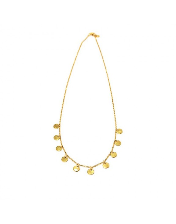 Round Stones necklaces gold