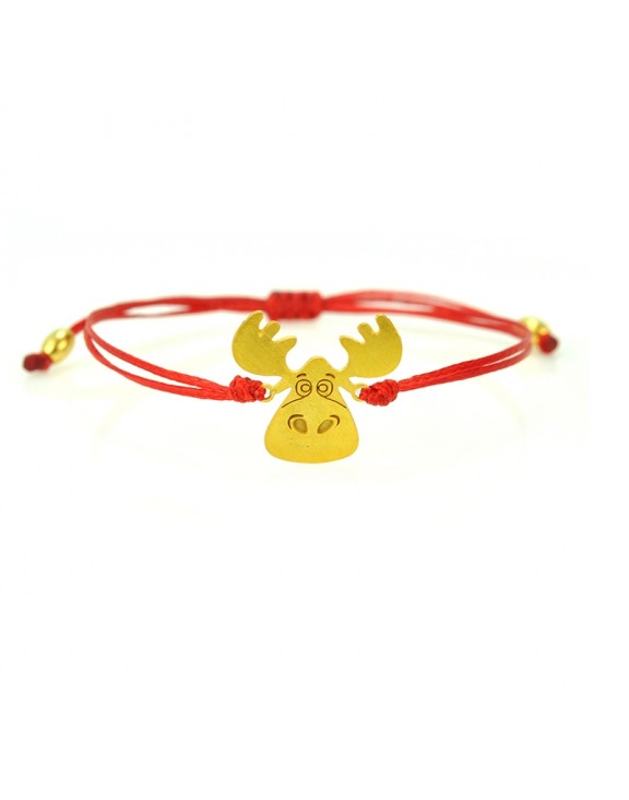 Βραχιόλι reindeer gold red