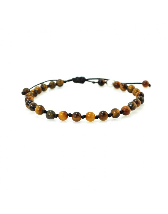 Βραχιόλι macrame mini tiger eye