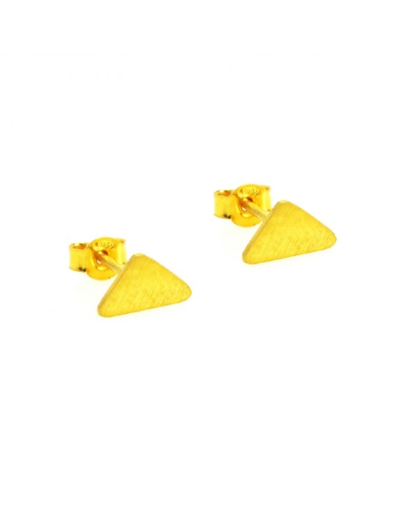 Σκουλαρίκι earrings funky pyramid gold