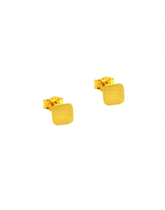 Σκουλαρίκι earrings funky square gold