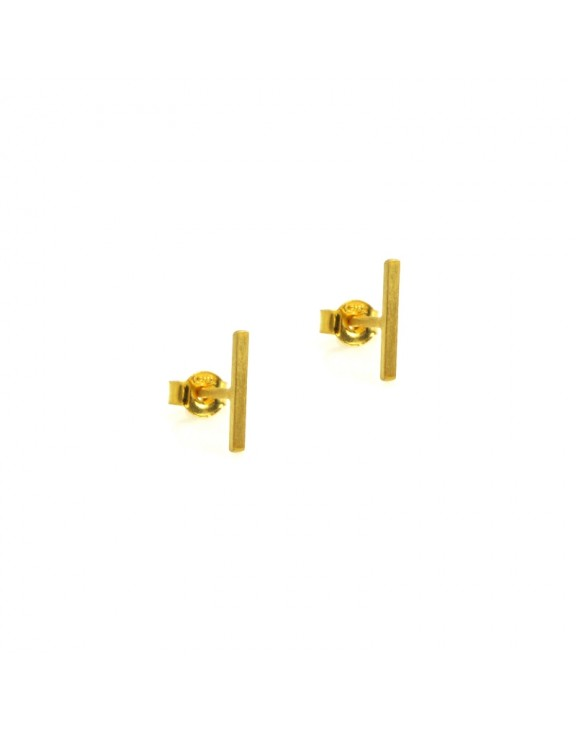 Σκουλαρίκι earrings funky line gold