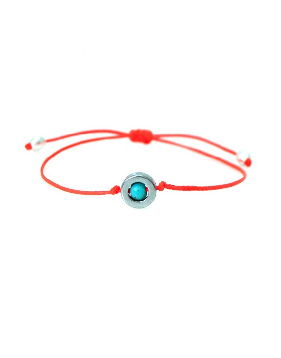 Βραχιόλι funky jewel eye coral