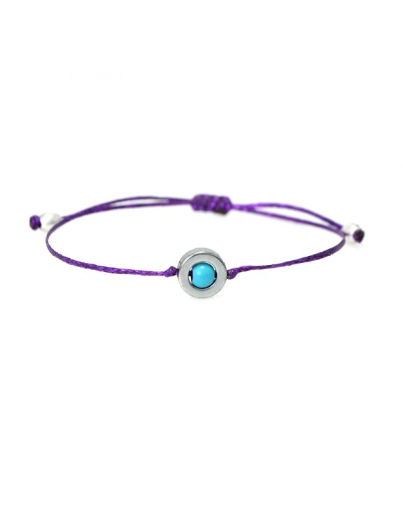 Βραχιόλι funky jewel eye purple