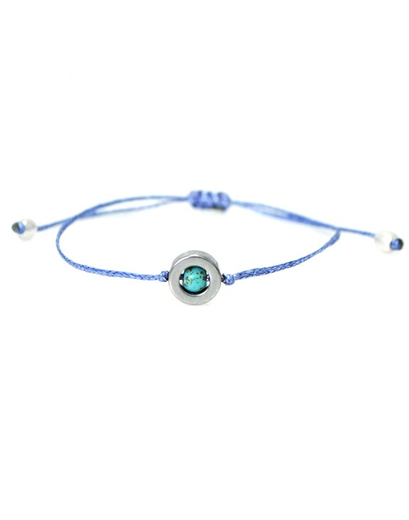 Βραχιόλι funky jewel eye light blue