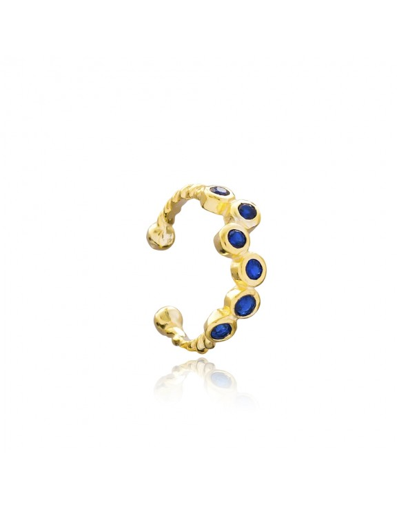 Sapphire Cartilage Goldplated Earcuff