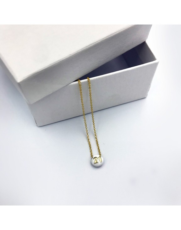 21 chain necklace white gold